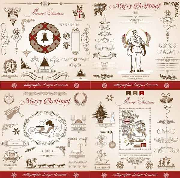 Continental Christmas decorative elements