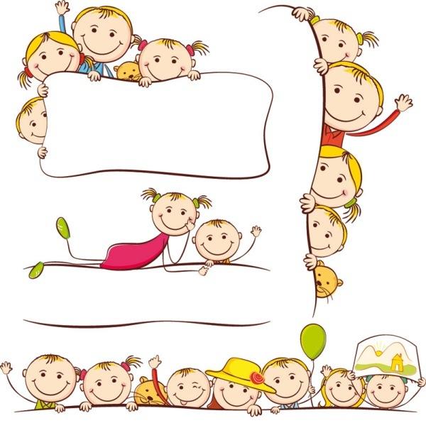 Cartoon children's paintings