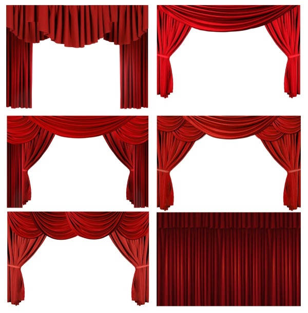 red curtain curtain HD Picture 2