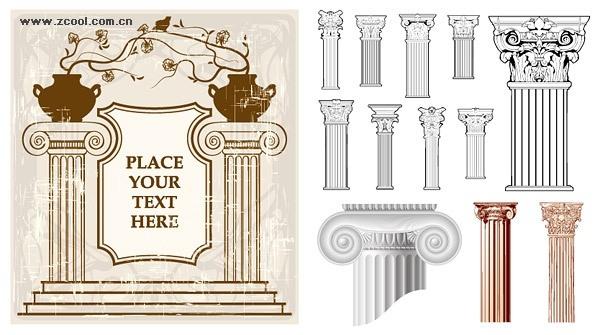 European classical pattern column