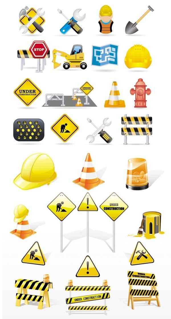 exquisite construction traffic icon