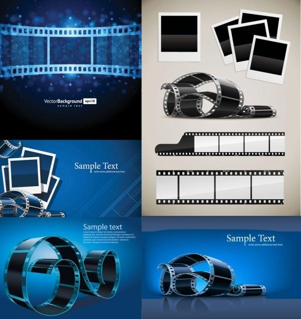 Blue film negatives