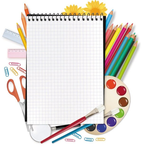 drawing supplies and stationery