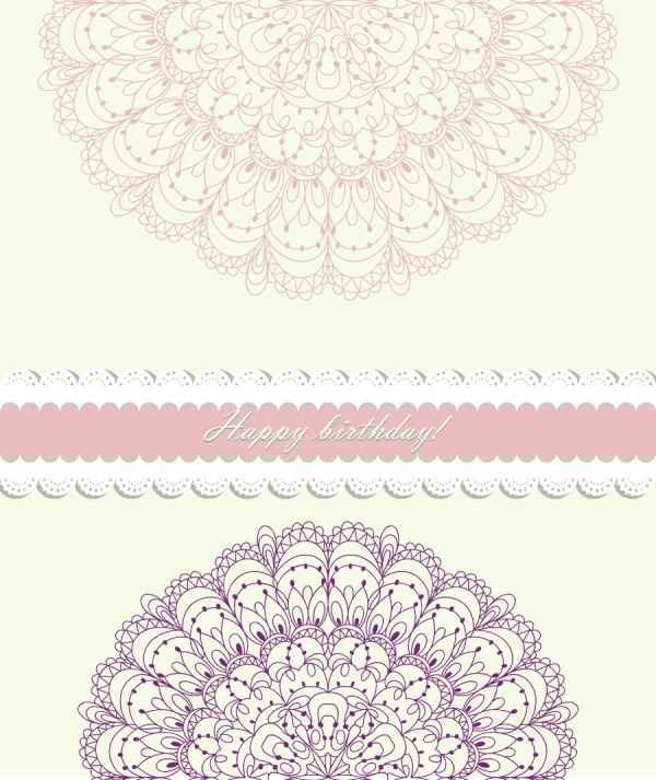 exquisite artwork pattern background vector material 04