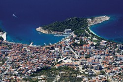 Aerial view of the beautiful Croatian city picture material