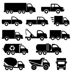 All kinds of trucks vector