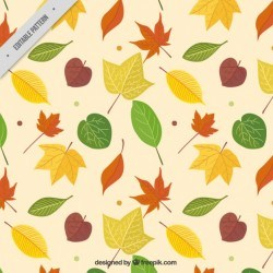 Autumn leaves pattern Vector | Premium Download