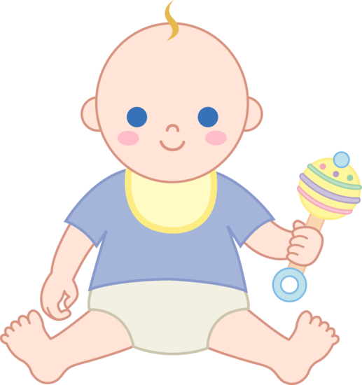Baby Boy With Rattle – Free Clip Art – Cliparts.co
