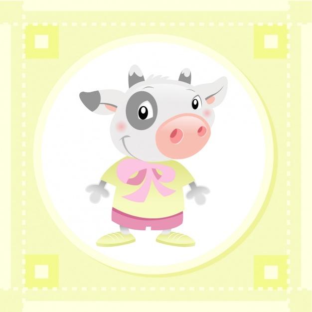 Baby cow design Vector | Free Download