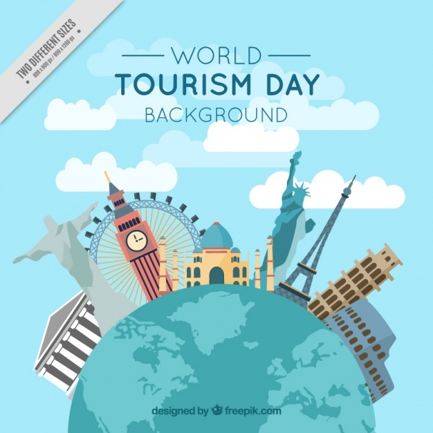 Background of world and international monuments Vector | Free Download