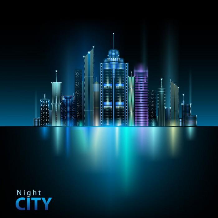 Beautiful night city vector