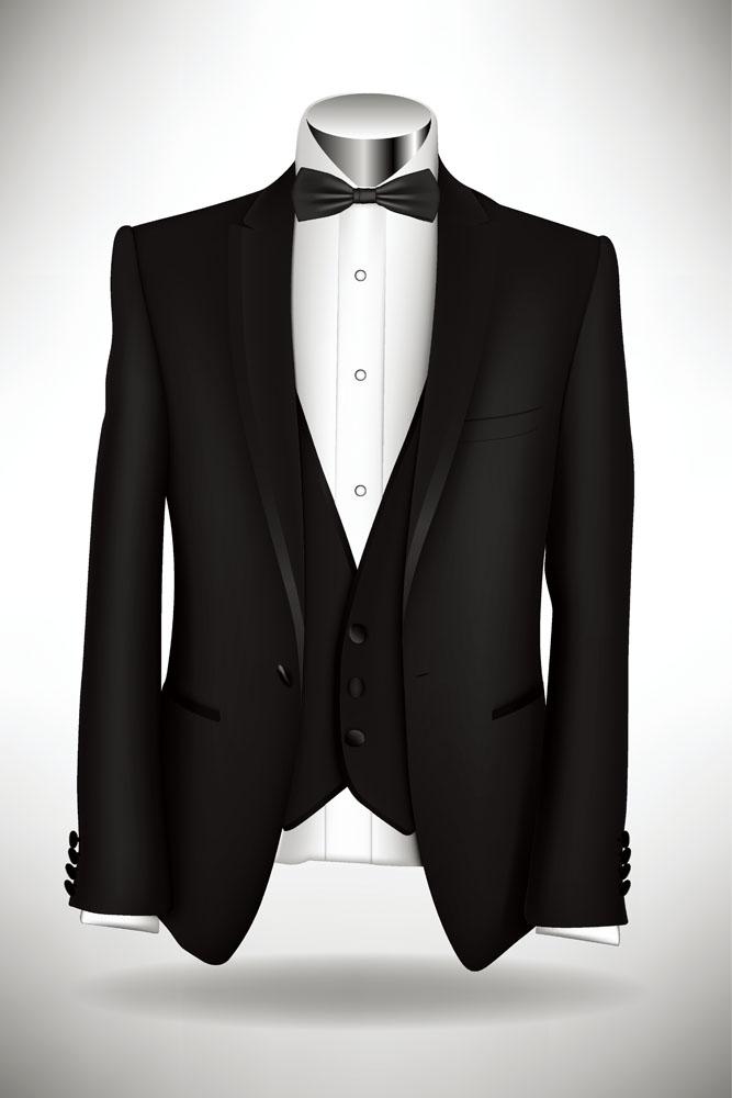 Black suits shirts vector