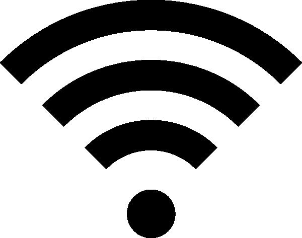 Black Wifi Icon Clip Art – Vector Clip Art Online, Royalty Free