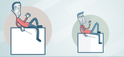 Bored Man with Presentation Vector – Vector Characters