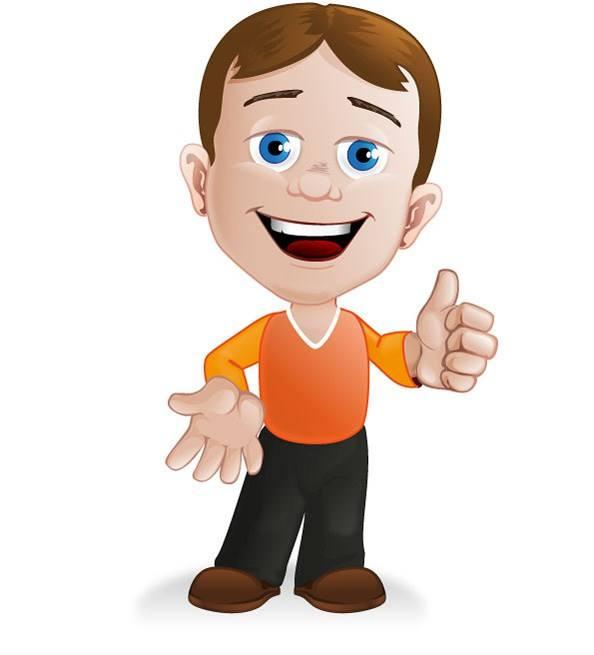 Boy Cartoon Character – Vector Characters