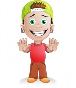 Boy Vector Character with a Hat – Vector Characters