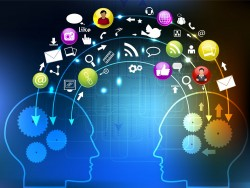 Brain and creative icon vector