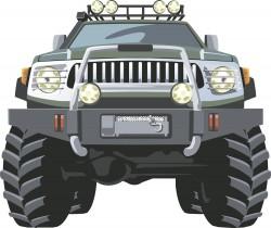 Cartoon comic buggy vector