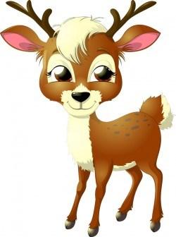 Cartoon deer illustration vector