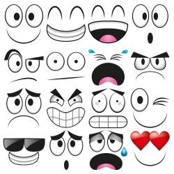 Cartoon glasses portfolio expression vector