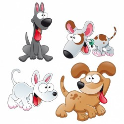 Coloured dogs collection Vector | Free Download