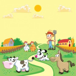 Coloured farm background Vector | Free Download