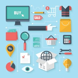 Commercial shopping icon design vector