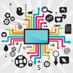 Creative Computer Network Technology vector