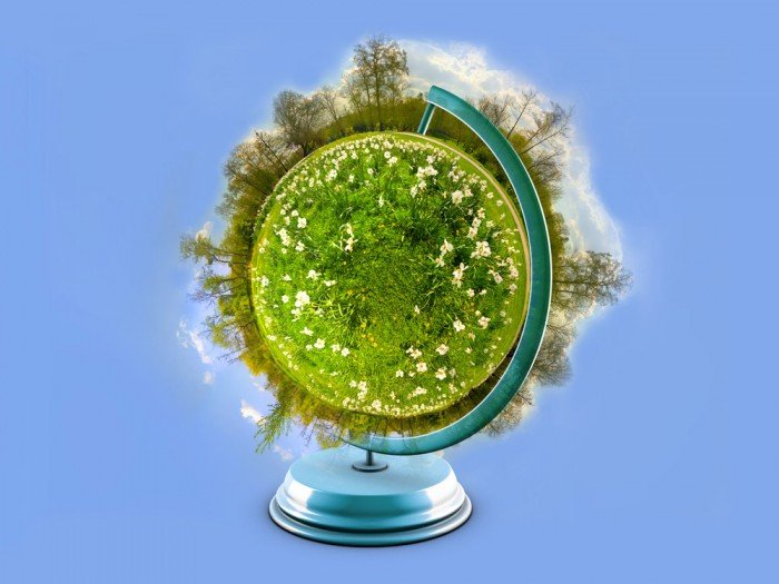 Creative Green Earth picture material