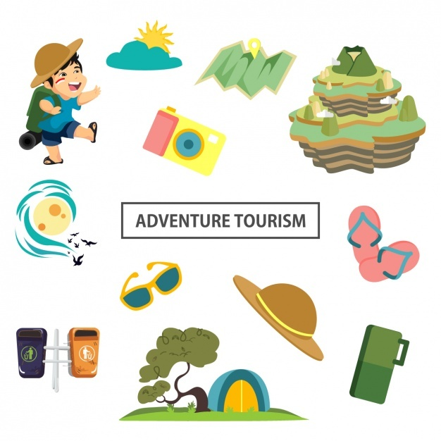 Cute adventure elements Vector | Free Download