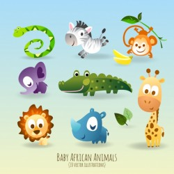 Cute and funny animals Vector   Free Download