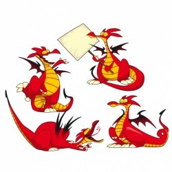 Dragon poses collection Vector | Free Download
