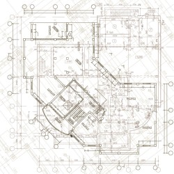 Engineering design drawings vector