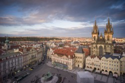 European city landscape picture material