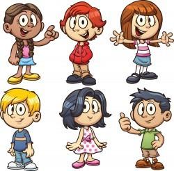 Fashion design cartoon children vector