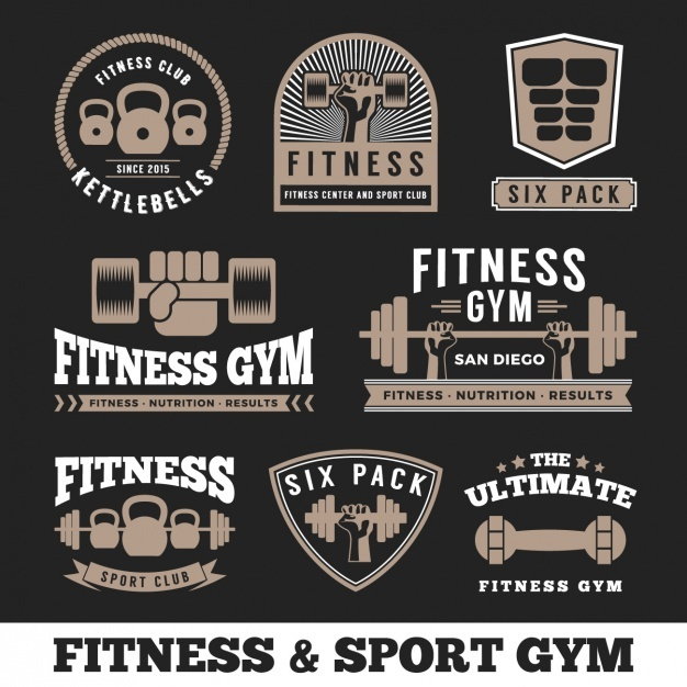 Fitness logos collection Vector | Free Download