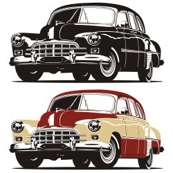 Foreign automotive design vector