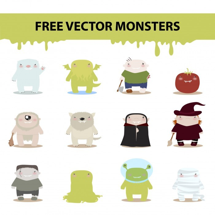 free vector monsters by harridan on DeviantArt