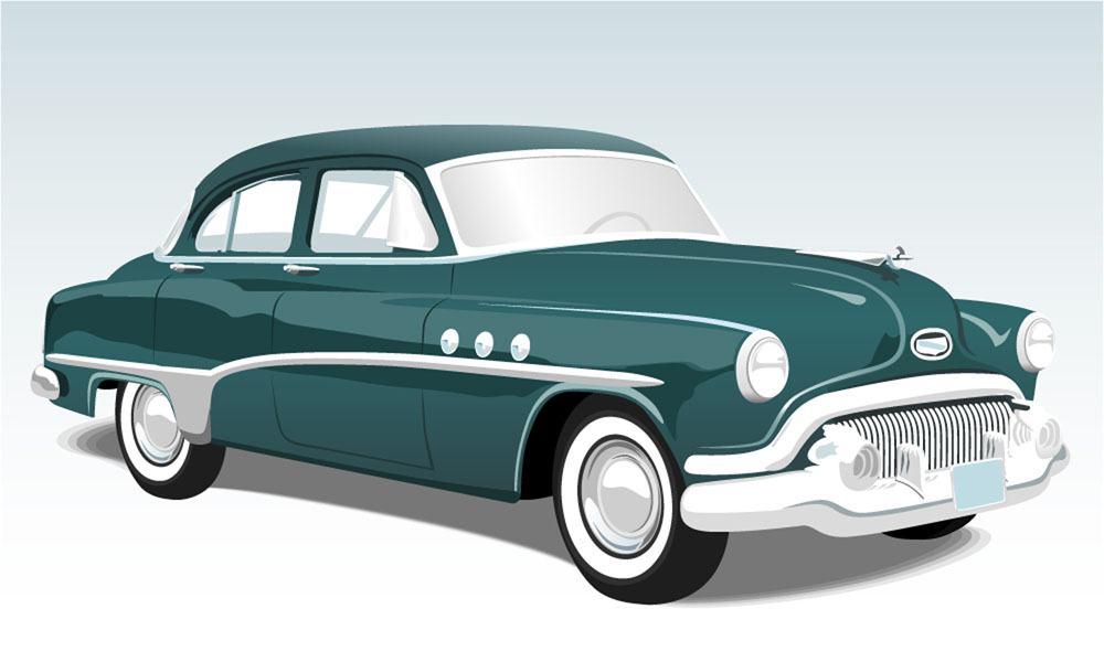 Green car illustration vector