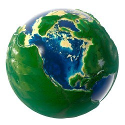 Green Earth covered with picture material