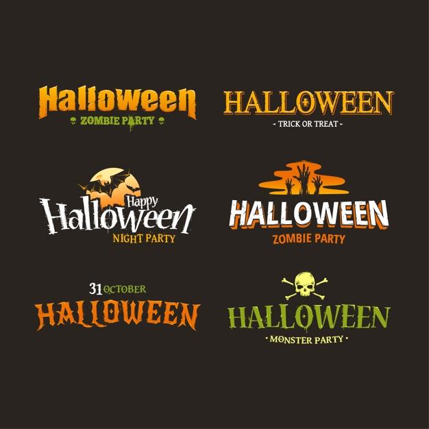 Halloween logos collection Vector | Premium Download