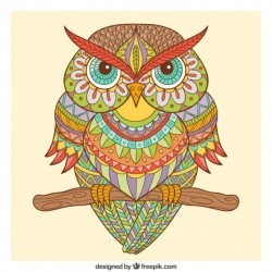 Hand drawn ornamental owl in ethnic style Vector   Free Download