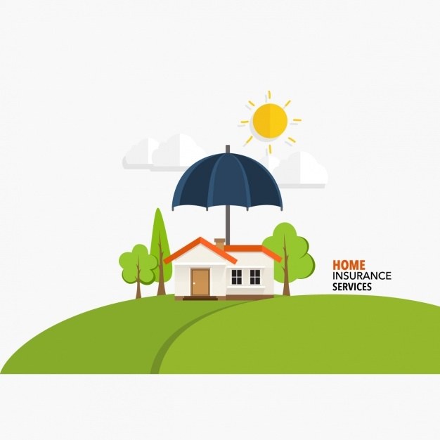 Home insurance services background Vector | Free Download
