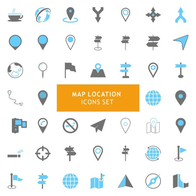 Icons set about maps Vector | Free Download