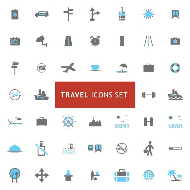 Icons set about travel elements Vector | Free Download