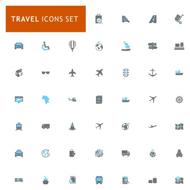 Icons set about travel Vector | Free Download
