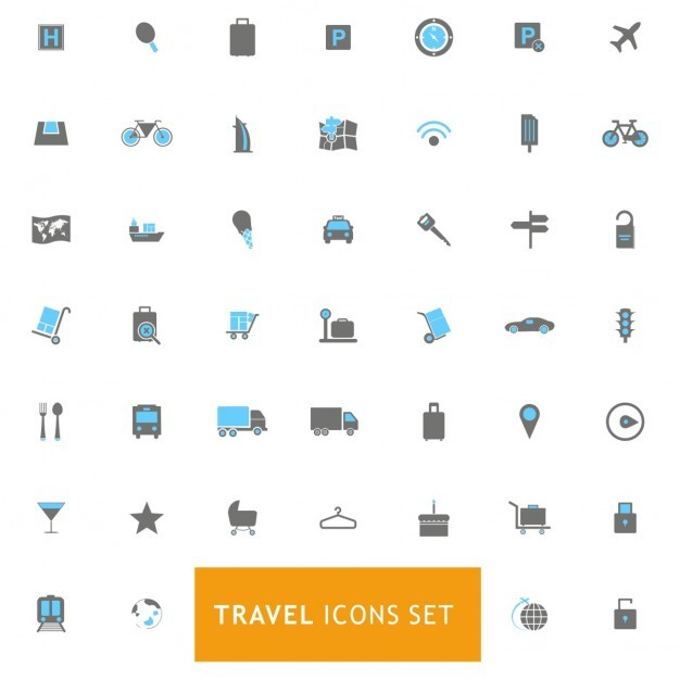 Icons set about travels Vector | Free Download