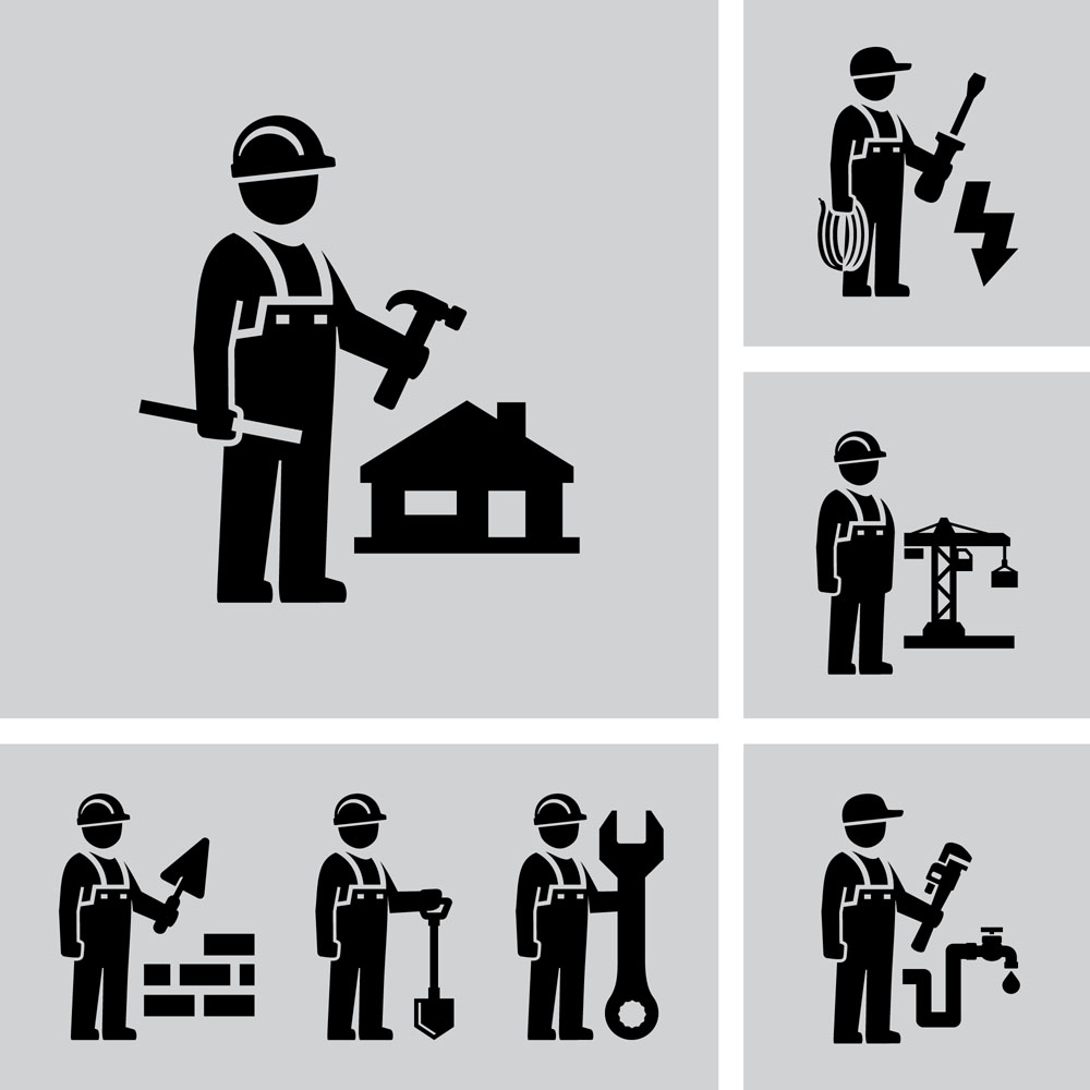 Industry worker icon vector