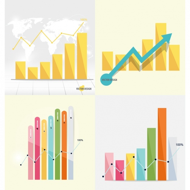 Infographic bar chart collection Vector | Free Download