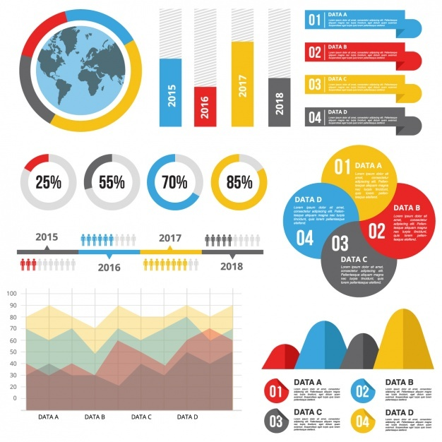 Infographic template with useful statistics Vector   Free Download